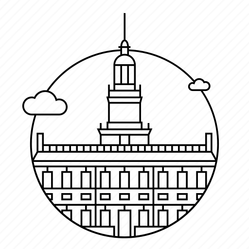 building, city, pennsylvania, philadelphia, usa icon