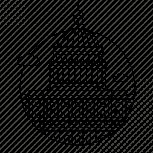 america, building, capitol, city, government, usa, washington icon