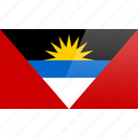 antigua, barbuda, flag, north american, rectangular icon