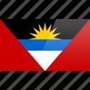 antigua, barbuda, flag, north american, rectangular