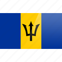 barbados, flag, north american, rectangular icon