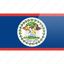belize, flag, north american, rectangular icon