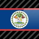 belize, flag, north american, rectangular icon