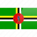 dominica, flag, north american, rectangular icon