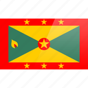 flag, grenada, north american, rectangular icon