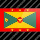 flag, grenada, north american, rectangular
