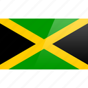 flag, jamaica, north american, rectangular icon