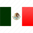 flag, mexico, north american, rectangular icon