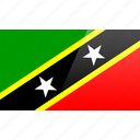 flag, kitts, nevis, north american, rectangular, saint icon