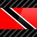 flag, north american, rectangular, tobago, trinidad