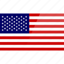 flag, north american, rectangular, states, united, united states, usa icon