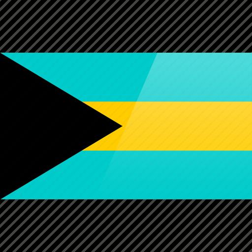 bahamas, flag, north american, rectangular icon