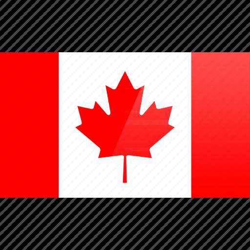 canada, flag, north american, rectangular icon
