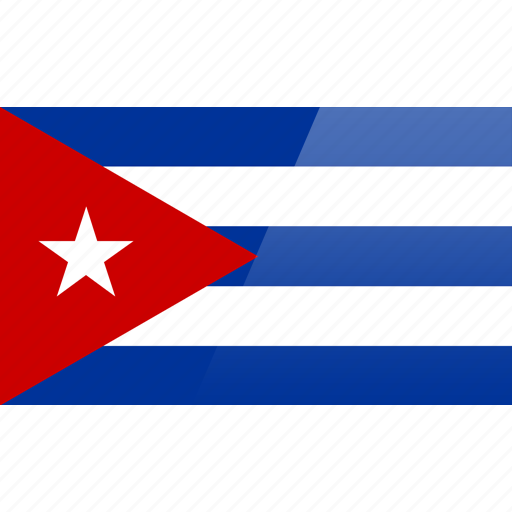 cuba, flag, north american, rectangular, republic icon