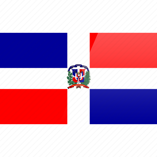 dominican, flag, north american, rectangular icon