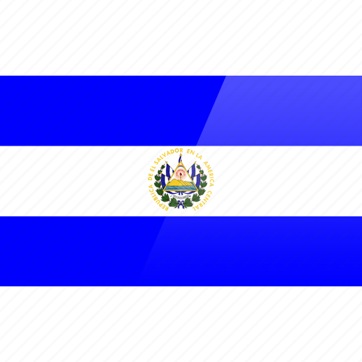el salvador, flag, north american, rectangular icon