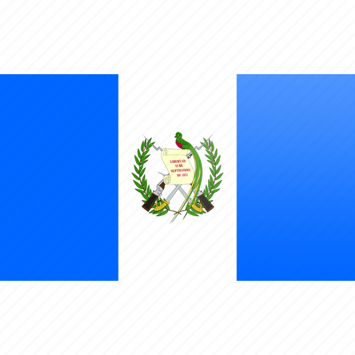 flag, guatemala, north american, rectangular icon