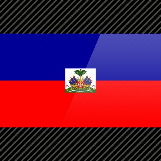 flag, haiti, north american, rectangular icon