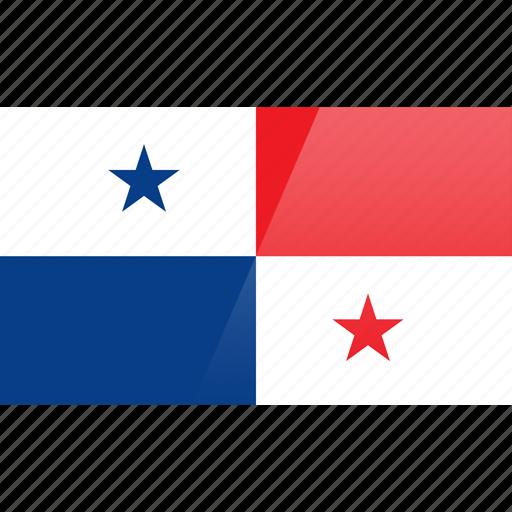 flag, north american, panama, rectangular icon