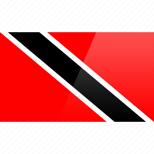 flag, north american, rectangular, tobago, trinidad icon