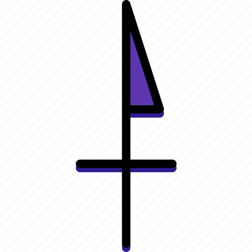 Point, arrows, ultra, north, sign icon