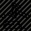thin, gavel, yul903, judge, vector icon