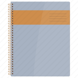cover book, note, notebook, page, paper, stylesheet, write icon