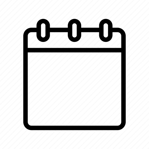 Blank Calendar Icon : Blank calendar notebook notepad memo note