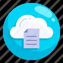 cloud, database, hosting, multimedia, network, server, storage icon
