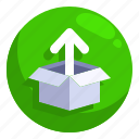 computer, direction, file, files, outbox, upload, uploading icon