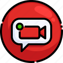 camera, communications, conference, multimedia, receiver, videocall, videoconference icon