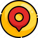 gps, location, map, pin, placeholder icon