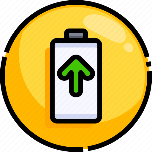 Battery, electronics, full, level, status, technology icon - Download on Iconfinder
