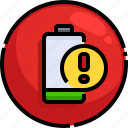 low, technology, electronics, level, status, battery icon