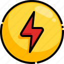 battery, bolt, charge, charger, charging icon