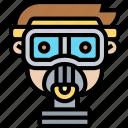 mask, toxic, gas, respiratory, protection