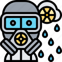nuclear, contaminated, environment, gas, mask