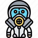 protective, suit, hazmat, gas, mask
