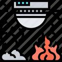 smoke, detector, fire, alarm, emergency