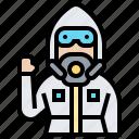 disease, hazardous, hazmat, protective, suit