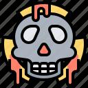 dangerous, dead, lethal, skull, warning