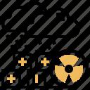 contamination, danger, nuclear, radioactive, rain icon