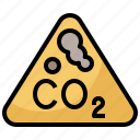 carbon, cloud, co2, dioxide, ecology, environment, pollution icon