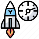chronometer, interface, nuclear, stopwatch, time, wait, weapone icon