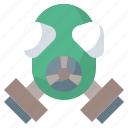 danger, fire, gas, mask, safety, security, toxic icon