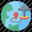 destroy, earth, globe, interface, internet, world, worldwide icon
