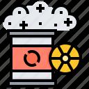 fuel, gas, nuclear, radiation, tank icon