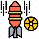 bomb, explosion, missile, nuclear, weapons icon