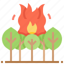 disaster, fire, flame, forest, nature