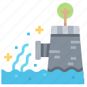 pipe, pollution, radioactive, sewage, waste icon